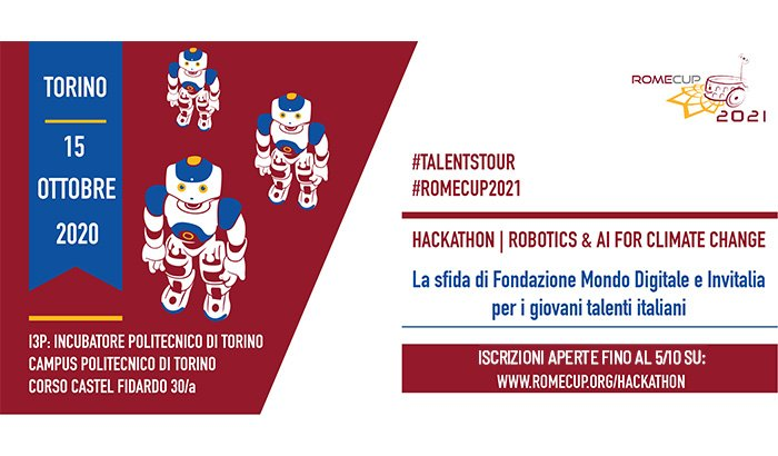 Hackathon Talent's Tour con Invitalia - AI & Robotics for Climate Change Turin 2020
